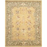 Safavieh Handmade Traditions Gold/Sage Wool Rug (9'6 x 13'6)