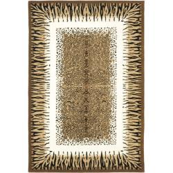 Safavieh Handmade Safari Leopard Print Wool Rug - 10' x 14' - Thumbnail 0