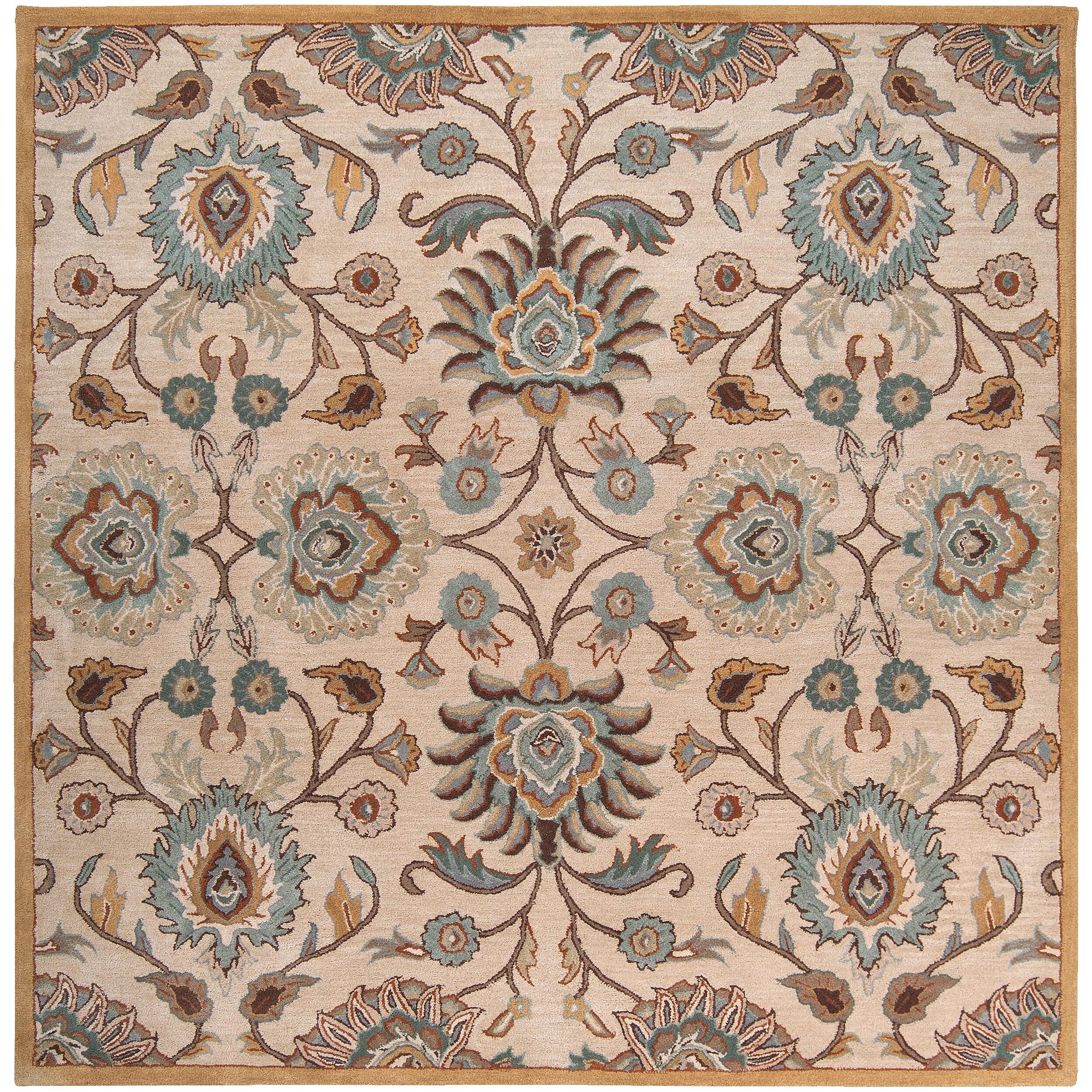 Hand Tufted Brigham  Wool Rug (8' Square)