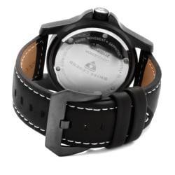 Swiss Legend Men's 'Conqueror' Black Genuine Leather Watch - Thumbnail 1