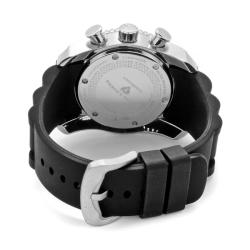 Swiss Legend Men's 'Commander' Dark Black Silicon Watch