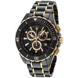 Swiss Legend Men's 'Identity' Black Ceramic/Goldtone Ion-Plated Watch