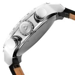 Swiss Legend Men's 'SL Pilot' Black Genuine Calf Leather Strap Watch