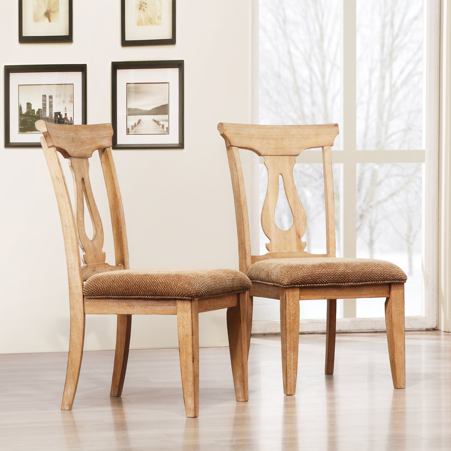 Provence Key Hole Back Dining Chair (Set of 2)