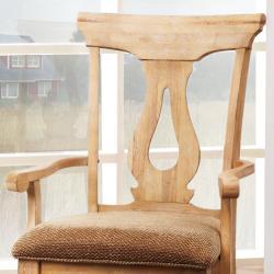 Provence Key Hole Back Arm Chair (Set of 2)