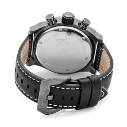 Swiss Legend Men's 'SL Pilot' Black Genuine Calf Leather Watch