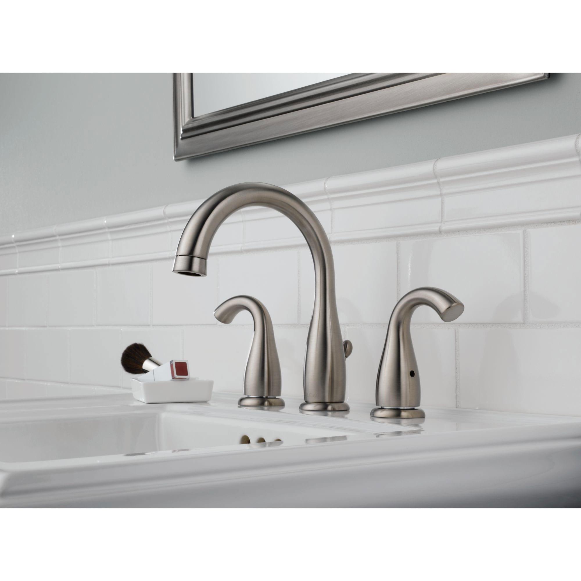 Shop peerless 8 inch widespread brushed nickel lavatory - 8 inch brushed nickel bathroom faucet ...