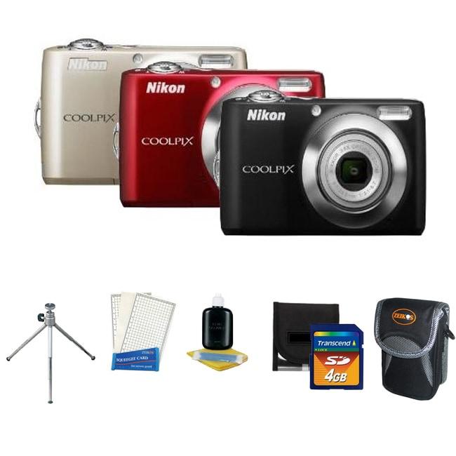 Nikon Coolpix L24 14MP Digital Camera with 4GB Kit (Refurbished)