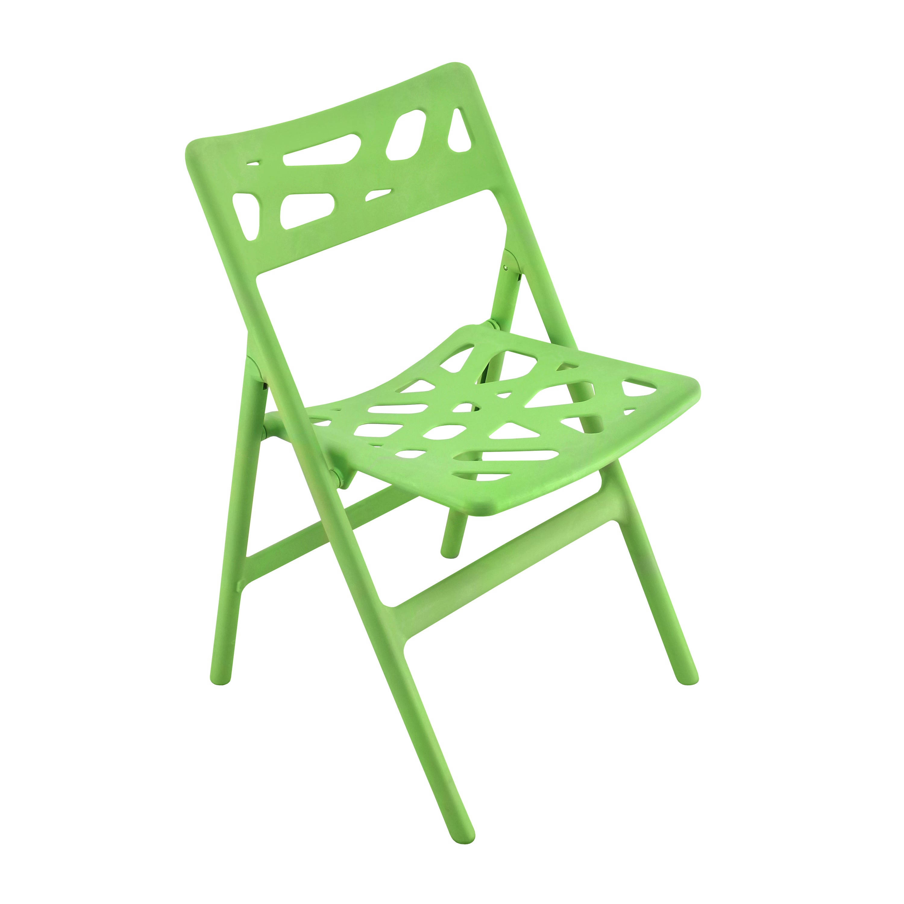 Pair of Green Cyclone Indoor/Outdoor Folding Chairs (Set of 2)