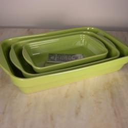 Appolia French Ceramic 3-Piece Stackable Rectangular Baker Set - Thumbnail 1