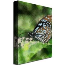 Lois Bryan 'Butterfly in Blue' Canvas Art - Thumbnail 1