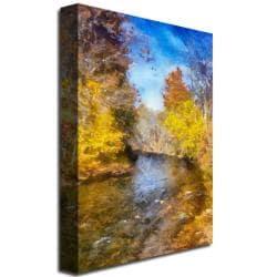 Lois Bryan 'Stream in Autumn' Canvas Art - Thumbnail 1