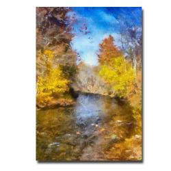 Lois Bryan 'Stream in Autumn' Canvas Art