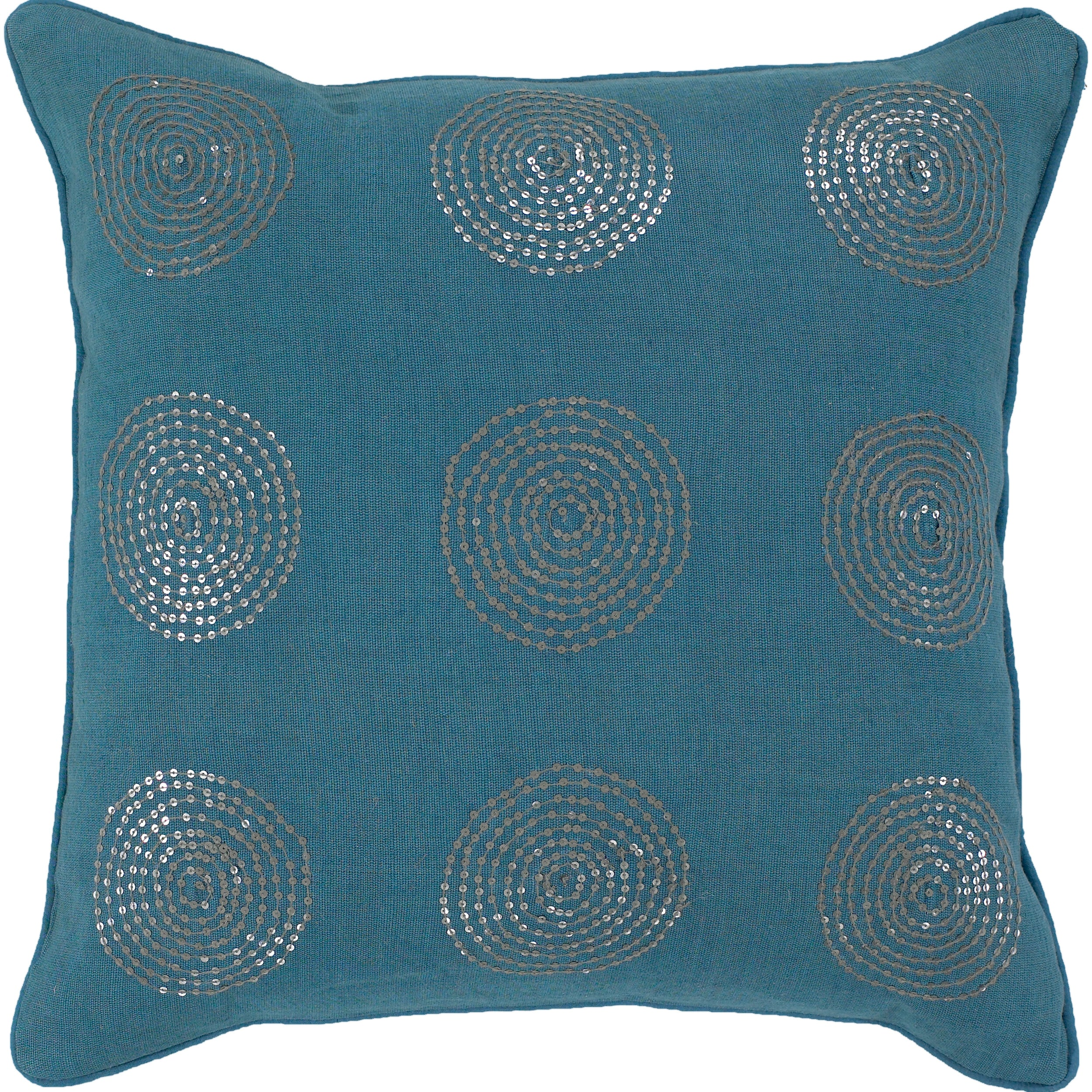 Aarau Turquoise/ Silver Decorative Pillow