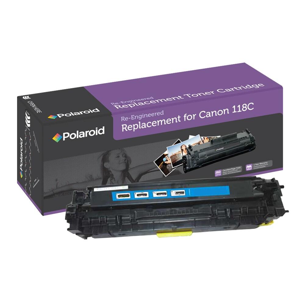 Canon 118C Cyan Toner Cartridge by Polaroid (Remanufactured)