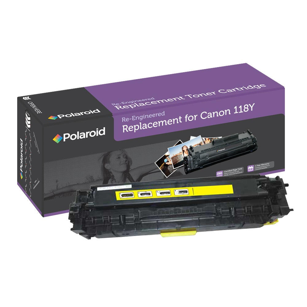 Canon 118Y Yellow Toner Cartridge by Polaroid (Remanufactured)