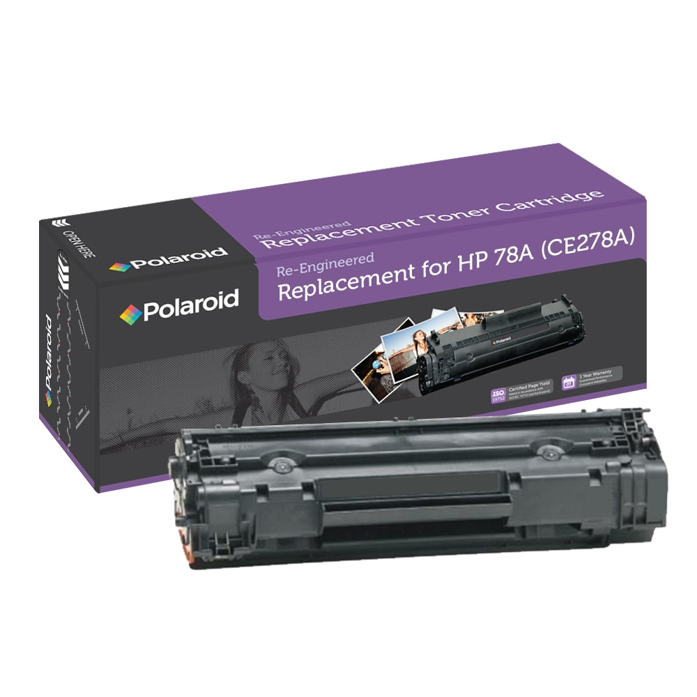HP 78A Black Toner Cartridge by Polaroid (Remanufactured)