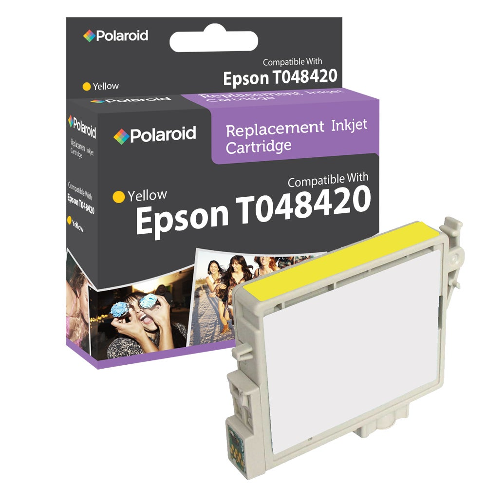 Epson T0484 Yellow Ink Cartridge by Polaroid (Refurbished)