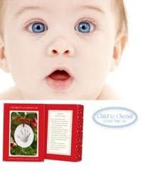 Child To Cherish Hand-print Ornament in Snowball Box