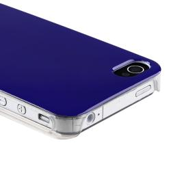 Dark Blue with Clear Side Snap-on Case for Apple iPhone 4/ 4S - Thumbnail 1