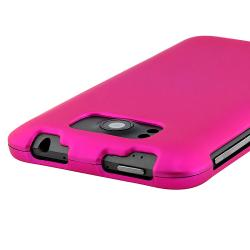 Pink Snap-on Rubber Coated Case for HTC Titan - Thumbnail 1