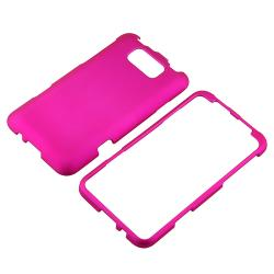 Pink Snap-on Rubber Coated Case for HTC Titan - Thumbnail 2