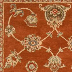 Hand-Tufted Langley Red/Ivory Wool Rug (8' X 11')