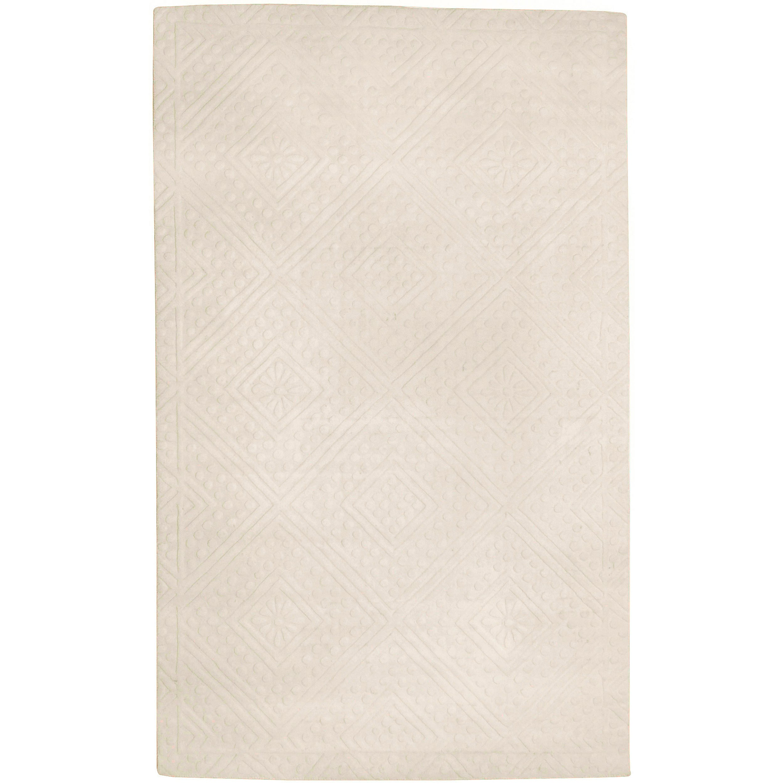 Smithsonian Hand-tufted Rutherglen Ivory Geometric Diamond Wool Rug (8' X 11')