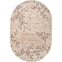 Hand-tufted Edison Wool Area Rug (8' x 10' Oval)