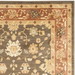 Safavieh Oushak Brown/ Rust Powerloomed Rug (9'6 x 13')