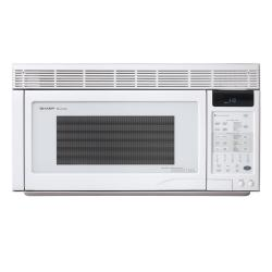 Sharp R-1871T White 850-Watt Over-the-Range Convection Microwave