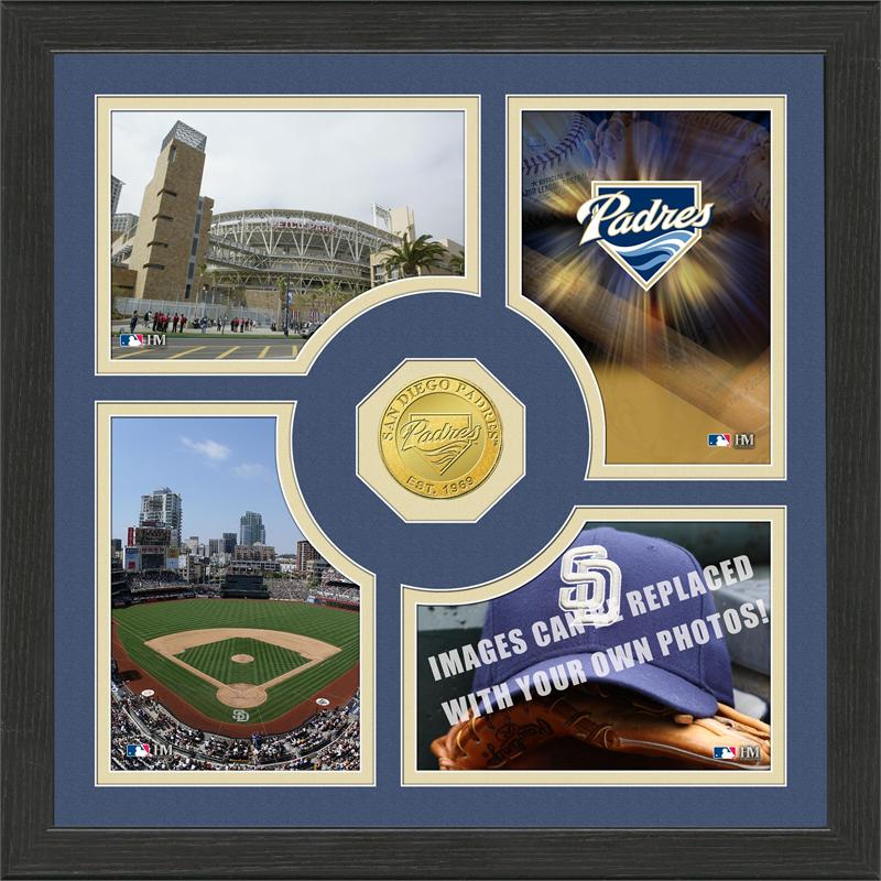 Highland Mint San Diego Padres 'Fan Memories' Minted Coin Photo Frame