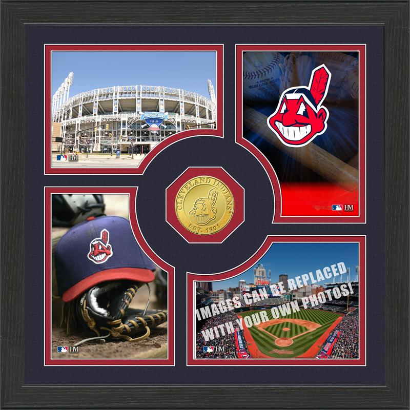 Highland Mint Cleveland Indians 'Fan Memories' Minted Coin Photo Frame