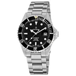 Grovana Men's 1571.2137 'Diver' Black Dial Stainless Steel Watch