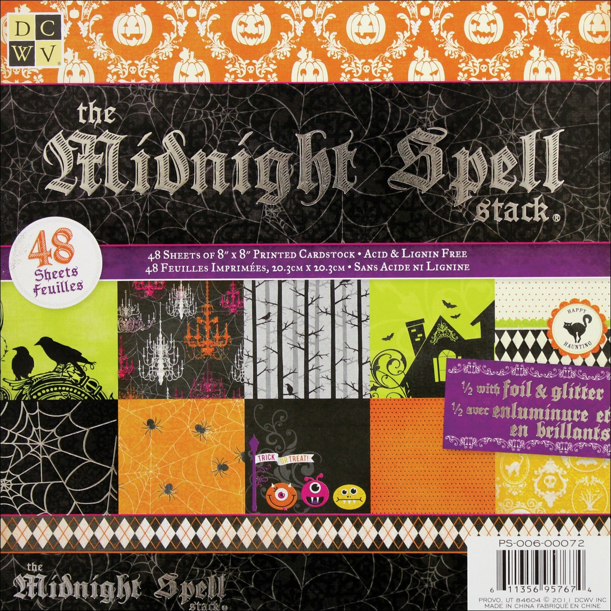 Die Cuts with a View 'Midnight Spell' Paper Stack (Pack of 48 sheets)