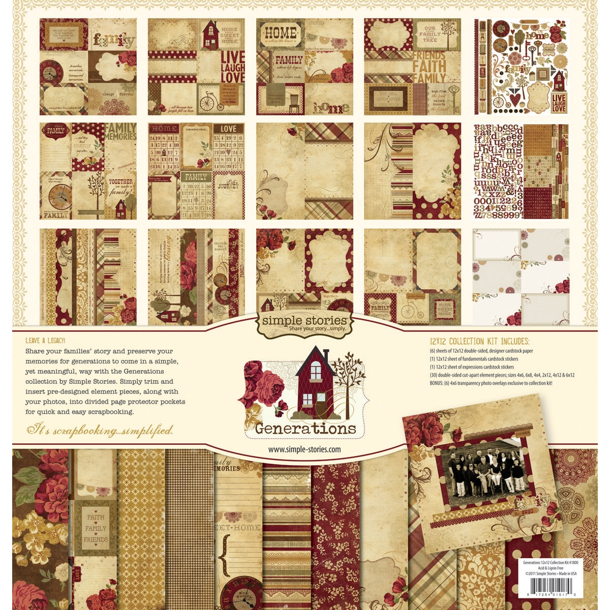 Simple Stories 'Generations Collection' Scrapebooking Kit