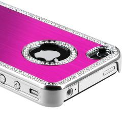 Bling Luxury Hot Pink Snap-on Case for Apple iPhone 4/ 4S - Thumbnail 1