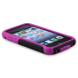 Purple Skin/ Black Mesh Hybrid Case for Apple iPhone 3G/ 3GS - Thumbnail 1