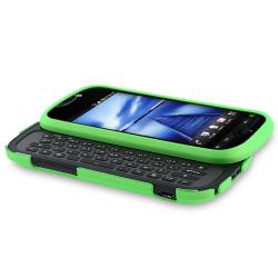 Green Snap-on Rubber Coated Case for HTC T-Mobile MyTouch 4G Slide - Thumbnail 1