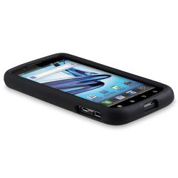 Black Silicone Skin Case for Motorola Atrix 2 MB865 - Thumbnail 1