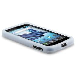 White Silicone Skin Case for Motorola Atrix 2 MB865