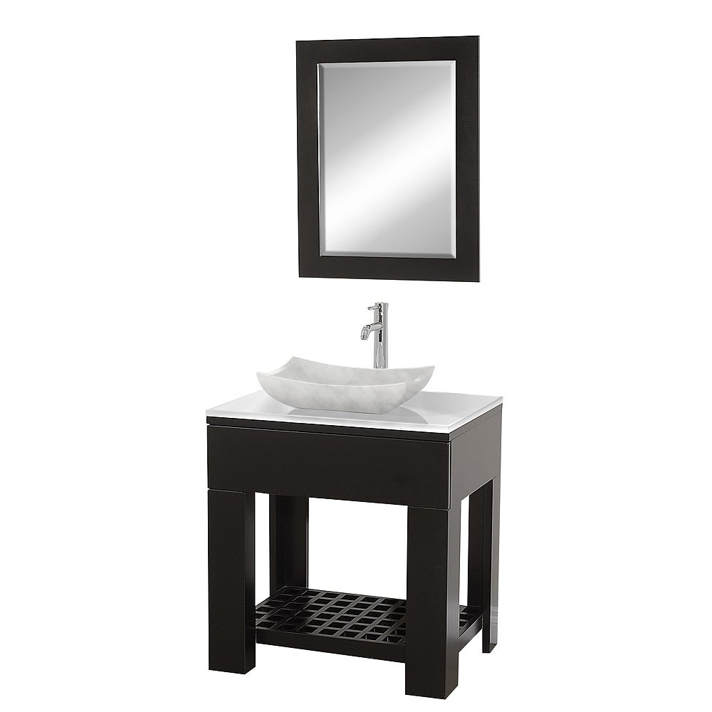 Shop Wyndham Collection Zen II Espresso Single Bathroom Vanity Set ...