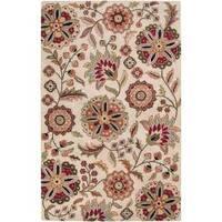 Hand-tufted Aiken Floral Wool Area Rug (6' x 9')