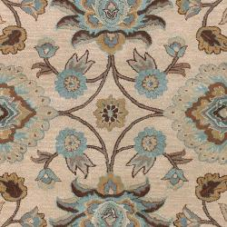 Hand-tufted Amanda Ivory Floral Wool Rug (3'6 x 5'6) - Thumbnail 2