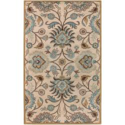 Hand-tufted Amanda Ivory Floral Wool Rug (3'6 x 5'6)