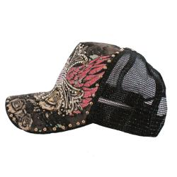 Stephanie Wear Rhinestone Cross Trucker Hat - Thumbnail 1