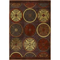 Clay Red Multicolor Viscose/Chenille Area Rug - 4' x 5'7