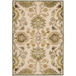 Woven Lauren Ivory Viscose/Chenille Area Rug (7'6 x 10'6)