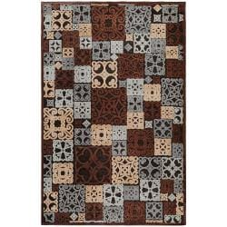 Woven Tyler Blue Viscose/Chenille Area Rug (5'1 x 7'6)