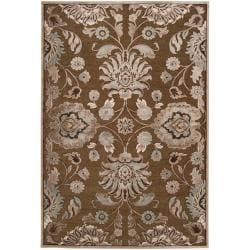 Woven Lauren Chocolate Viscose/ Chenille Area Rug (5'1 x 7'6)